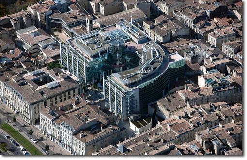 Photo aérienne de la cité mondiale